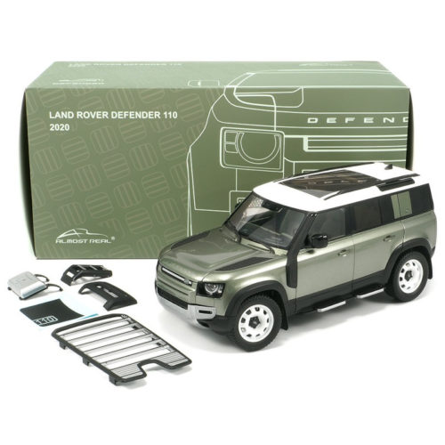 Land Rover Defender 110 (2020) with Roof Pack - Pangea Green 1:18 ALMOST REAL ALM 810804