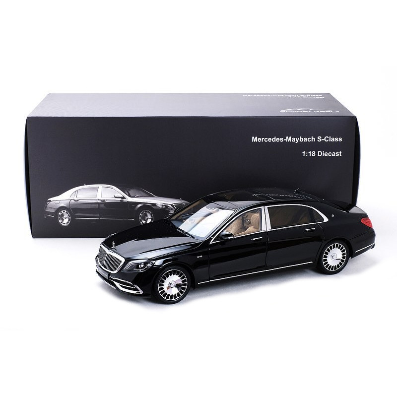 Mercedes Maybach S-Class 2019 - Obsidian Black 1:18 ALMOST REAL ALM 820112
