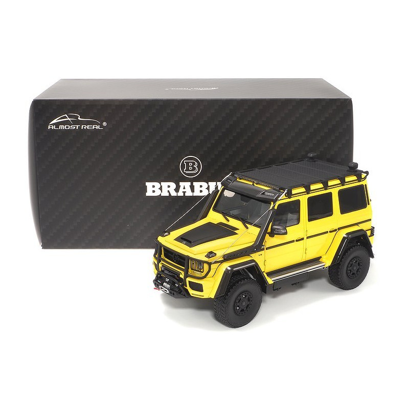 Brabus 550 Adventure Mercedes-Benz G-Class 4×4² 2017 - Electric Beam Yellow 1:18 ALMOST REAL ALM 860301