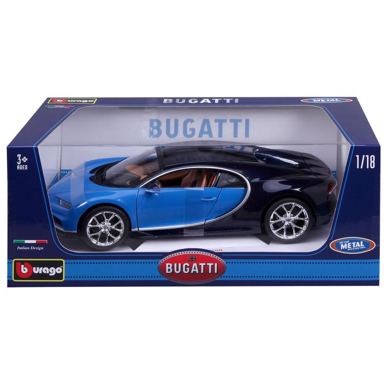 bugatti chiron blue 1 18 bburago b18 11040 model car. Black Bedroom Furniture Sets. Home Design Ideas