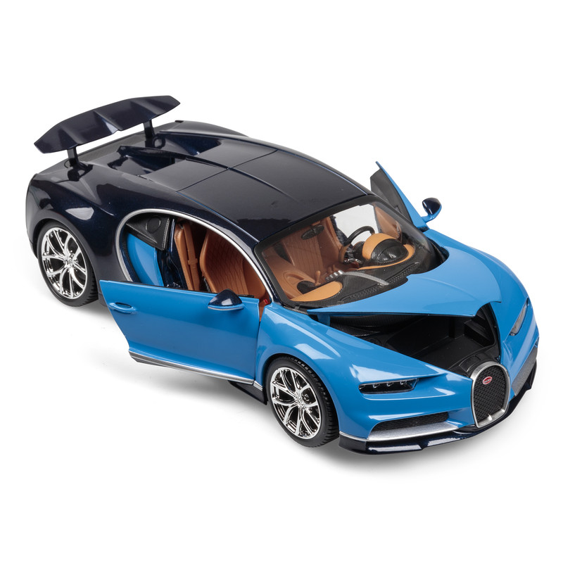 bugatti chiron blue 1 18 bburago b18 11040 model car direct. Black Bedroom Furniture Sets. Home Design Ideas
