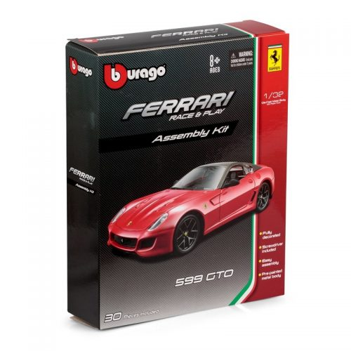 Ferrari 599 GTO RACE & PLAY KIT - Red 1:32 BBURAGO BUR B18-45203