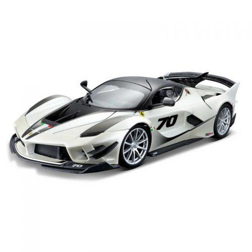 Ferrari FXX-K EVOLUZIONE Race and Play RACE & PLAY - White/Black 1:18 BBURAGO BUR B18-16012