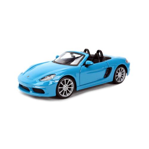 Porsche 718 Boxster - Blue 1:24 BBURAGO BUR B18-21087B