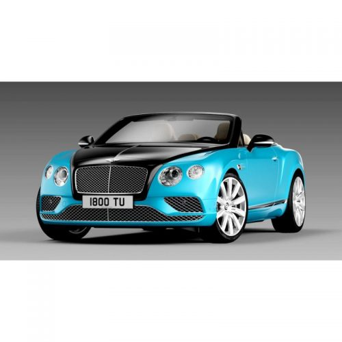 Bentley Continental GT Convertible RHD 2016 - Onyx over Kingfisher 1:18 PARAGON MODELS PAR 98235R