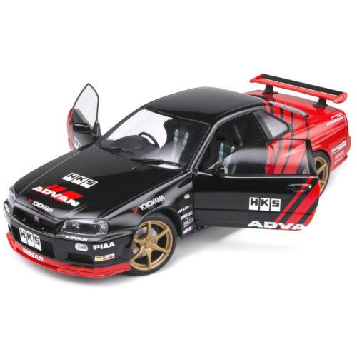 Nissan Skyline GT-R R34 1999 Advan Drift Livery - Black 1:18 SOLIDO SOL 1804302