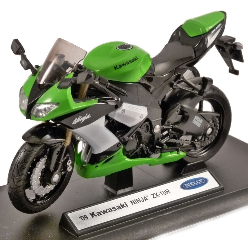 Kawasaki NINJA ZX-10R 2009 - Green 1:18 WELLY WEL 12809