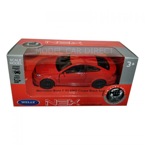 Mercedes Benz C63 AMG Coupe - Red 1:34-1:39 WELLY WEL 43675R