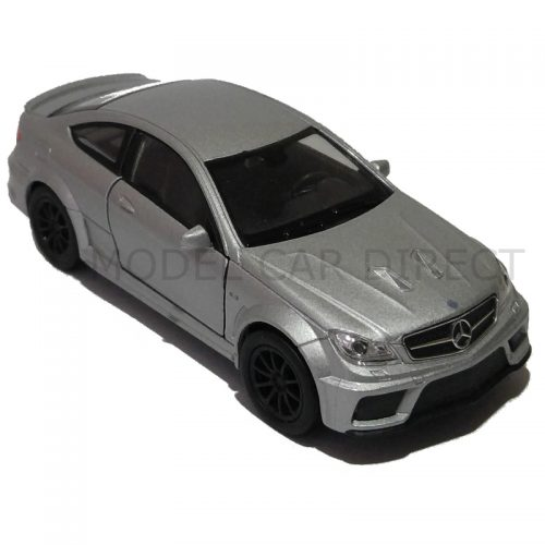 Mercedes Benz C63 AMG Coupe - Silver 1:34-1:39 WELLY WEL 43675S